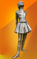 EDGAR DEGAS BALLERINA DANCER, SIGNED BRONZE STATUE